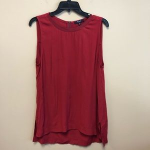 Madewell Red refined Tank Top Tunic high low M